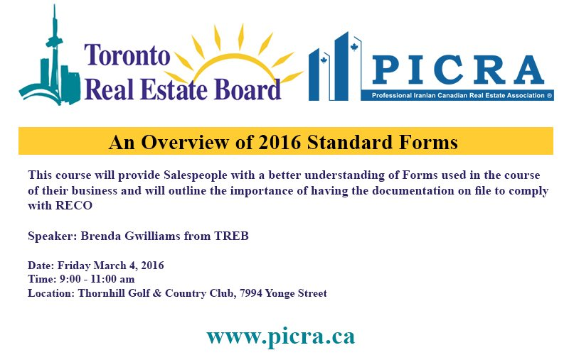 An Overview Of 2016 Standard Forms Picra